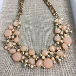Large Pink Gemstone Statement Necklace